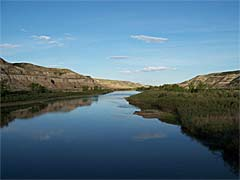Red Deer River near Drumheller, Alberta